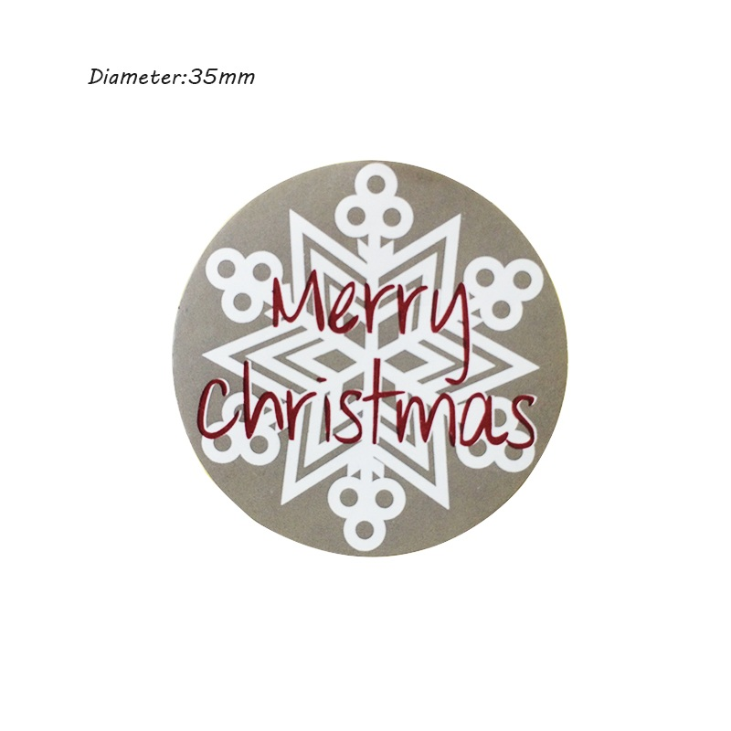 150pcs/lot Vintage Merry Christmas Theme Round Sealing sticker DIY Gifts posted Baking Decoration label Multifunction