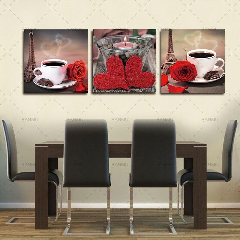 Платно за картини 3 части Модулни - Декор за дома - Снимка 3