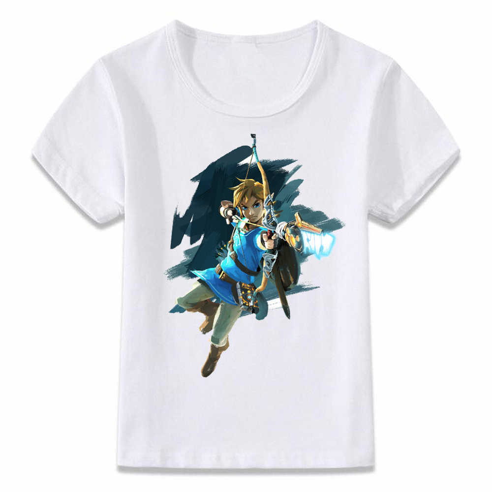 Kids Clothes T Shirt Breath of The Wild Link Champion Tunic Zelda Children T-shirt for Boys and Girls Toddler Shirts Tee