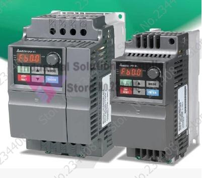 Delta inverter delta el series single frequency converter vd007el21a 0~240v 4.2a 0.1~600hz 0.75kw 1hp