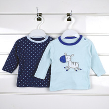5 pieces/Lot Baby Girl Tops Baby Long Sleeve Tops Cotton T-shirt Cute Baby Girls Boys Clothes Baby T-Shirt Random Delivery V30