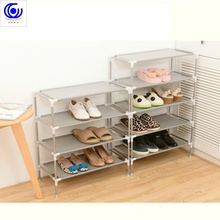 New Stainless steel  Fabric Storage Shoe Rack Hallway Cabinet Organizer Holder 2/3/4/5/6 Layers Select Shelf DIY Home Furniture 100% oak shoe rack 3 layers and 4 layers solid wood storage rack wooden living room furniture