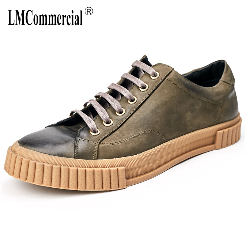 spring and autumn British retro all-match cowhide men's casual spring shoes men youth breathable sneaker fashion casual Leisure autumn winter european british retro men shoes male leather breathable sneaker fashion boots men casual shoes handmade fashion