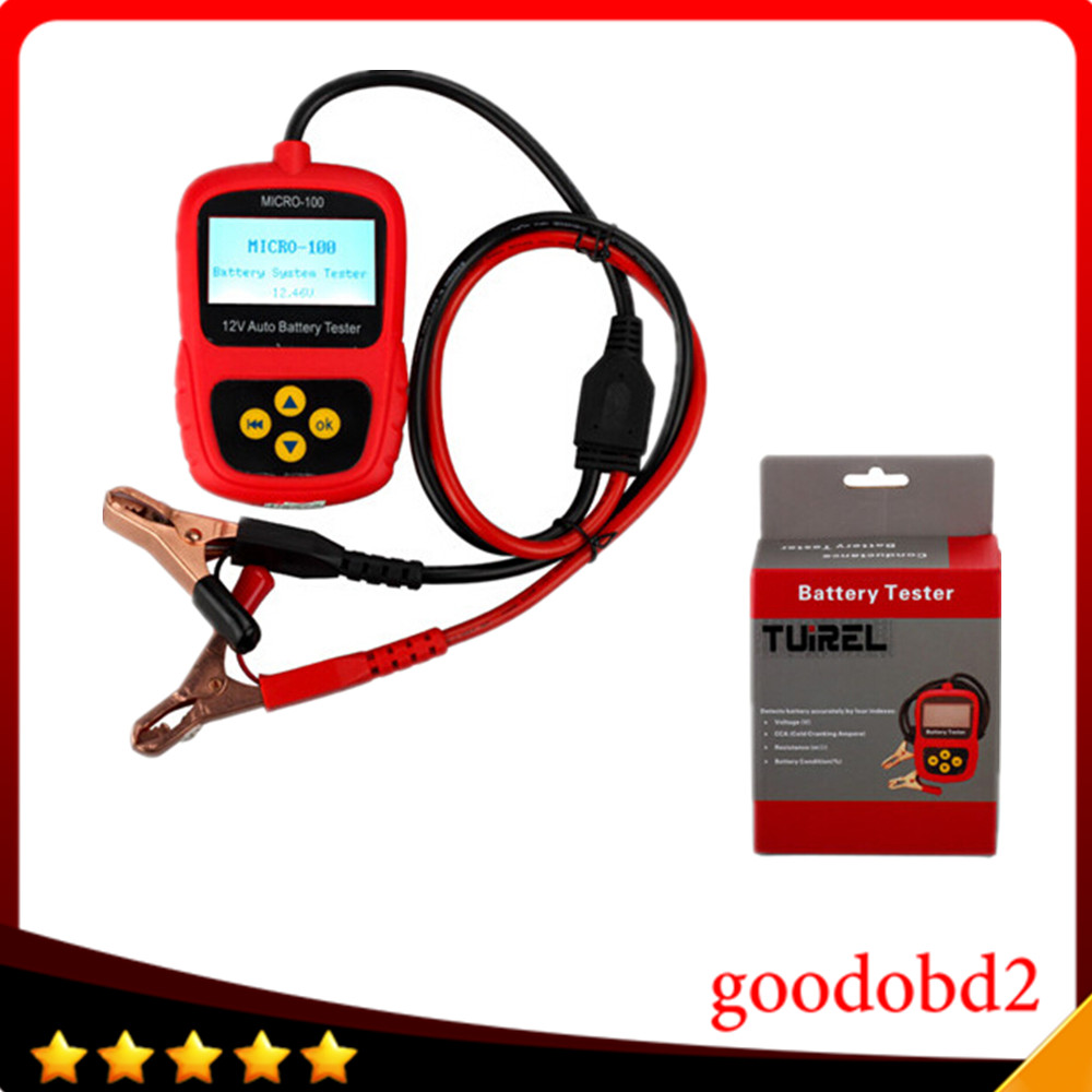 12V Car battery tester MICRO-100 Battery Load Digital Battery Tester Battery Conductance & Electrical System Analyzer 30-100AH