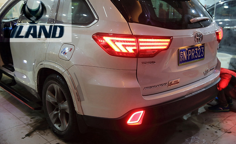 Free shipping vland factory car accessories  for Highlander LED taillight 2015 2016 free shipping vland factory car parts for camry led taillight 2006 2007 2008 2011 plug and play car led taill lights
