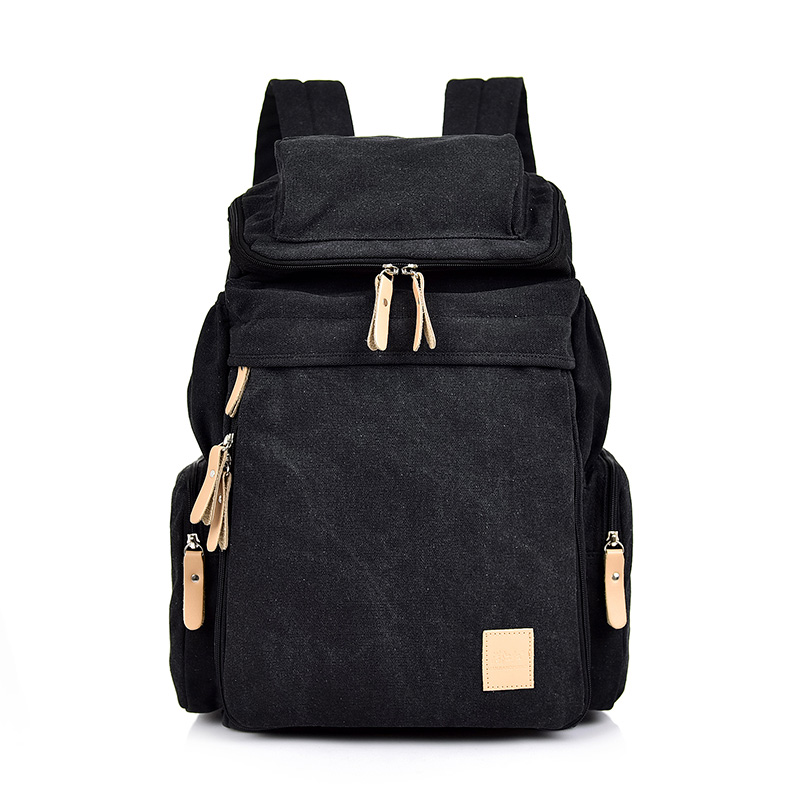 MANJIANGHONG Man's Canvas Backpacks Multi-Function Big Backpack Bag Man Fashion Simple Travel Bags Dropshipping Costomized Bags Men Men's Bags cb5feb1b7314637725a2e7: Coffee|Light Khaki|Army green|black|Blue|Khaki