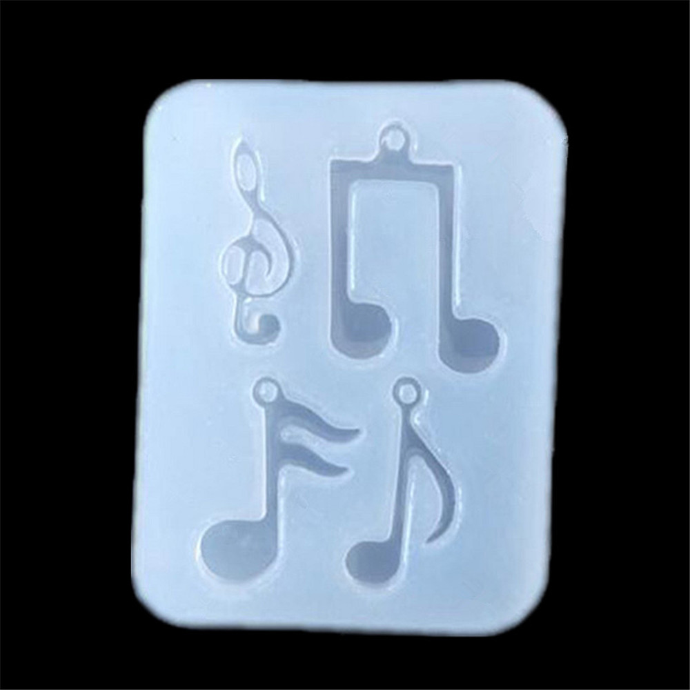 Musical Note Shape DIY Pendant Tools Jewelry Accessories Epoxy Silicone Mold Mobile Phone Decoration Molds Chocolate Cake Mould