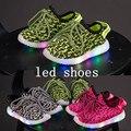 Zapatillas con led 2016 Nian webs estrella con los niños de fondos blandos zapatos zapatillas de deporte de marca zapatos de moda led niños chica kids mástil aéreo