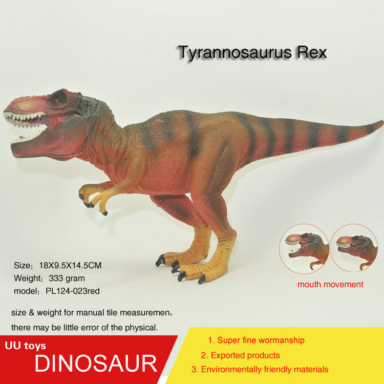 Hot toys Red Tyrannosaurus Rex Jurassic Plastic Dinosaur Toys Model Action Figures Boys Gift toys for children
