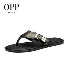 OPP 2017 Натуральная кожа Мужская обувь Вьетнамки летняя Мужская Натуральная кожа Вьетнамки Сандалии с пряжкой обувь для мужчин пляжные сандалии