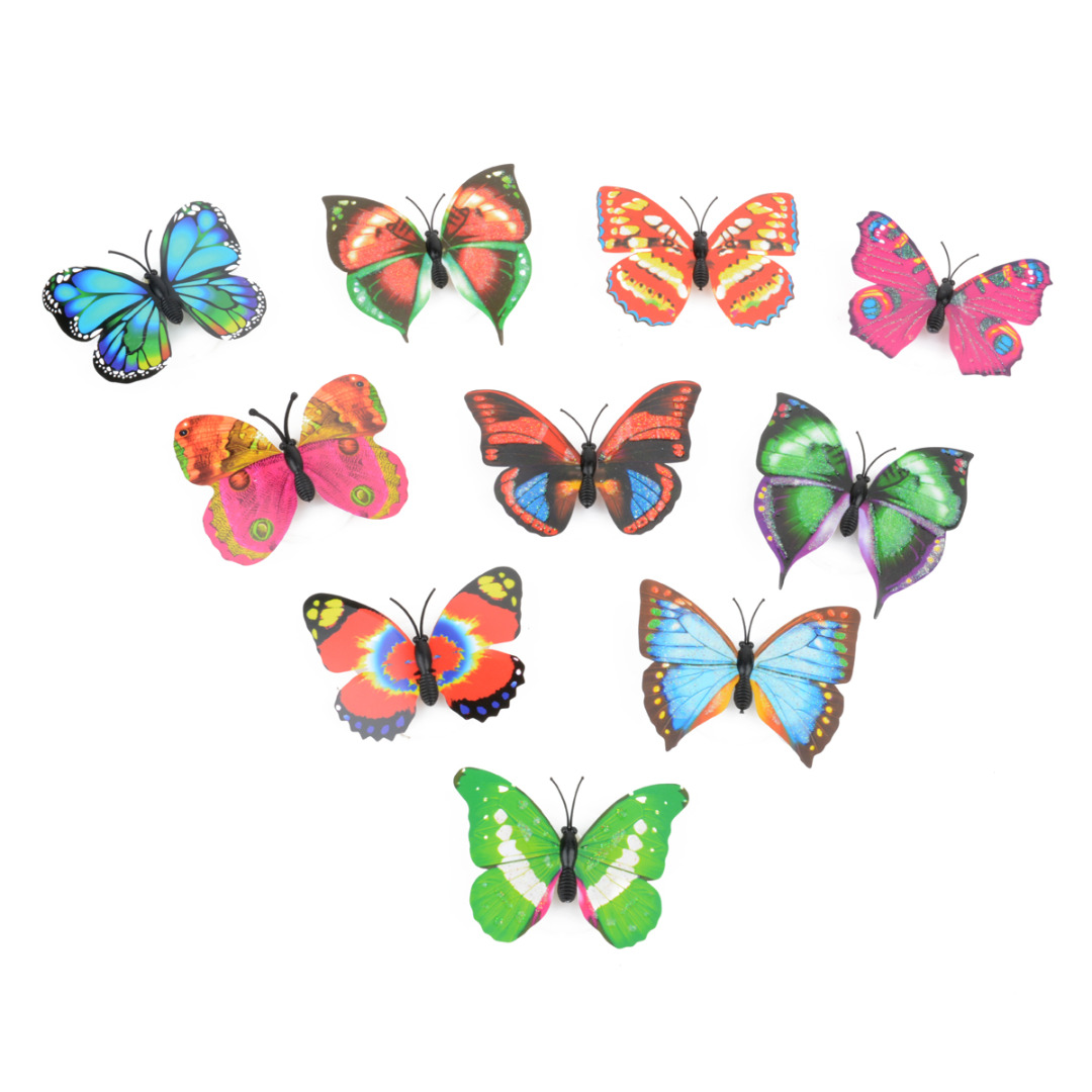 2pcs 3D LED Glowing Night Light Butterfly Wall Sticker DIY Wall Sticker Mural for Kids Room Party Home Wall Sticker Decoration
