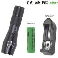 18650 Zoom Flashlight  torch waterproof XM-L T6 3800LM 5 mode Led Zoomable lights by 3x AAA  or 3.7v 18650 Battery