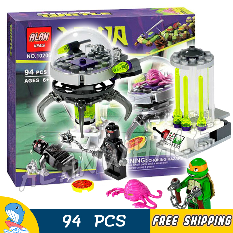 94pcs New Hobby Ninja Kraang Lab Escape 10206 DIY Model Building Kit Blocks Children Toys Brick Movie Games Compatible with Lego new phoenix 11207 b777 300er pk gii 1 400 skyteam aviation indonesia commercial jetliners plane model hobby