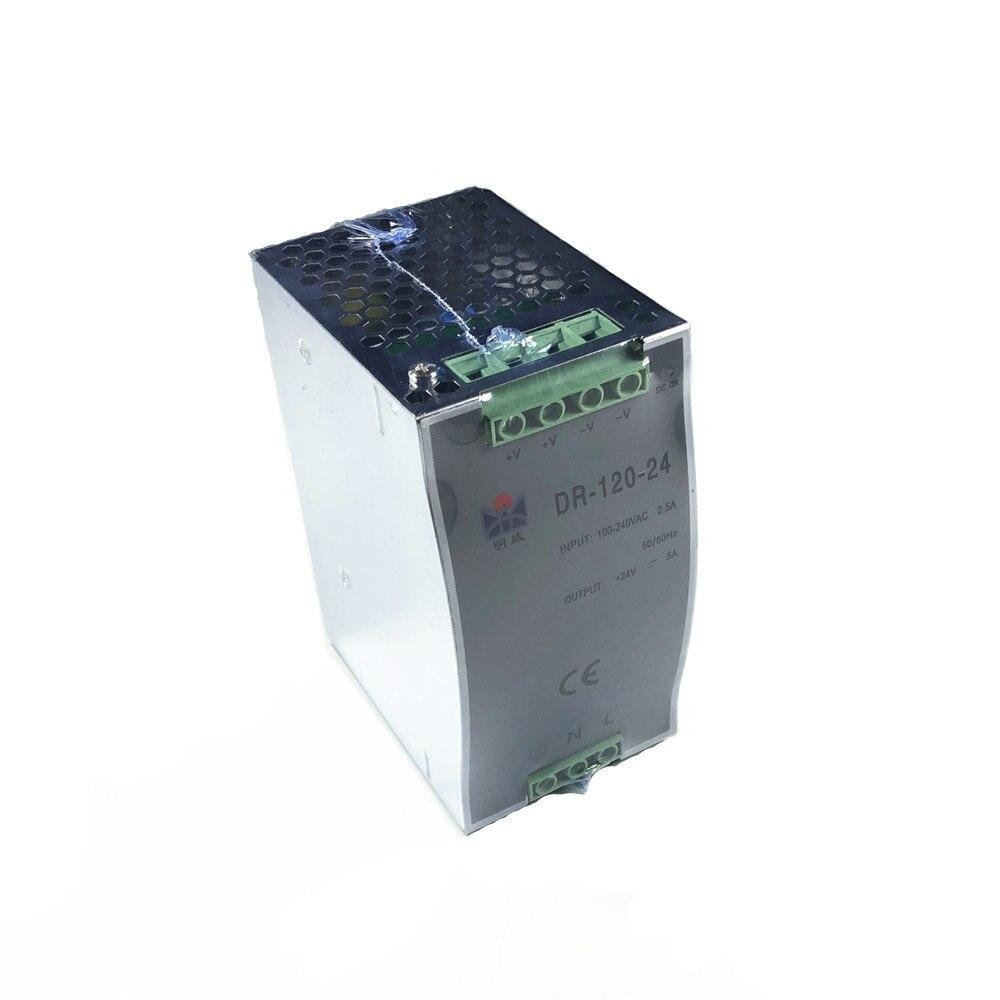 DR-120 120W 50/60Hz Single Output Power Supply Module 12V 15V 24V 36V 48V Din Rail Mount Switching Power SupplyDR-120 120W 50/60Hz Single Output Power Supply Module 12V 15V 24V 36V 48V Din Rail Mount Switching Power Supply