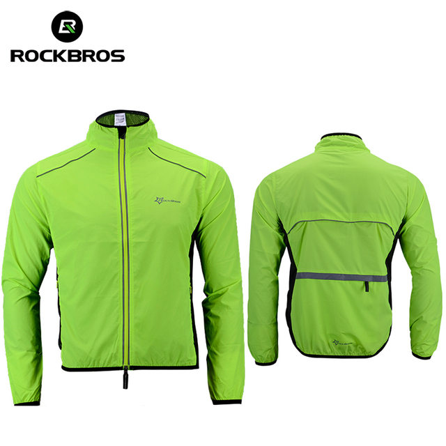 ROCKBROS Cycling Bike Bicycle Jacket Coat Cycling Bicycle Jersey Clothing Windproof Reflective Quick Dry Coat Bike Equipment
