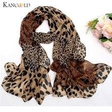 KANCOOLD шарф женский шифоновый Леопардовый принт маленький шелковый шарф повязка для волос шейный платок многоцелевой женский шарф 2018Nov7