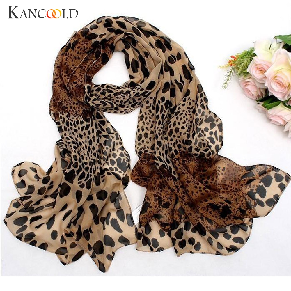KANCOOLD Scarf Women's Chiffon Leopard Print Little Silk Scarf Hair Tie Band Neckerchief Multi-Purpose Scarf Women 2018Nov7