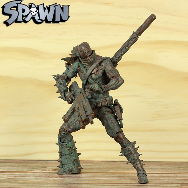 """Spawn 7"""" Commando Spawn Action Figure Scorched Earth Variant Version McFarlane Series Collectible Doll Model Toy Statue Loose"""