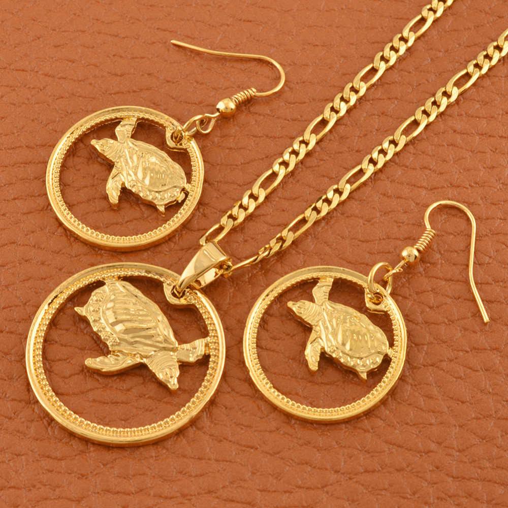 PNG Vàng Màu Rùa bộ Đảo Phong Cách Rùa Mặt Dây Chuyền Vòng Cổ Bông Tai Động Vật cho Phụ Nữ Cô Gái Trang Sức Quà Tặng # J0155