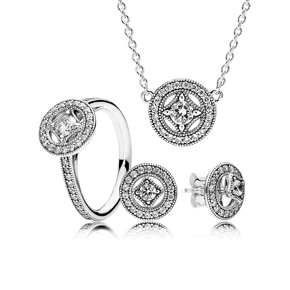 2fcf6723b ... pandora.est EDELL YCS 100% 925 Sterling Silver SALE Vintage Allure Gift  Set Charms rings Fit DIY ...