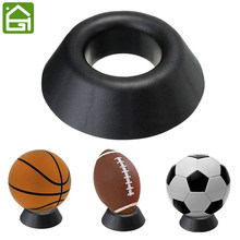 Round Dimple Blocks for Basketball Football Volleyball Softball Bowling Ball Pedestal Display Stand Holder(China)