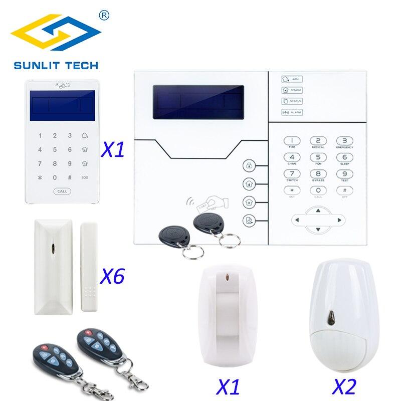 Focus ST-VGT Sans Fil TCP IP GSM Système D'alarme Kit Télécommande 433 mhz Maison Intelligente Antivol Sécurité Pet Immunitaire PIR mouvement Senor