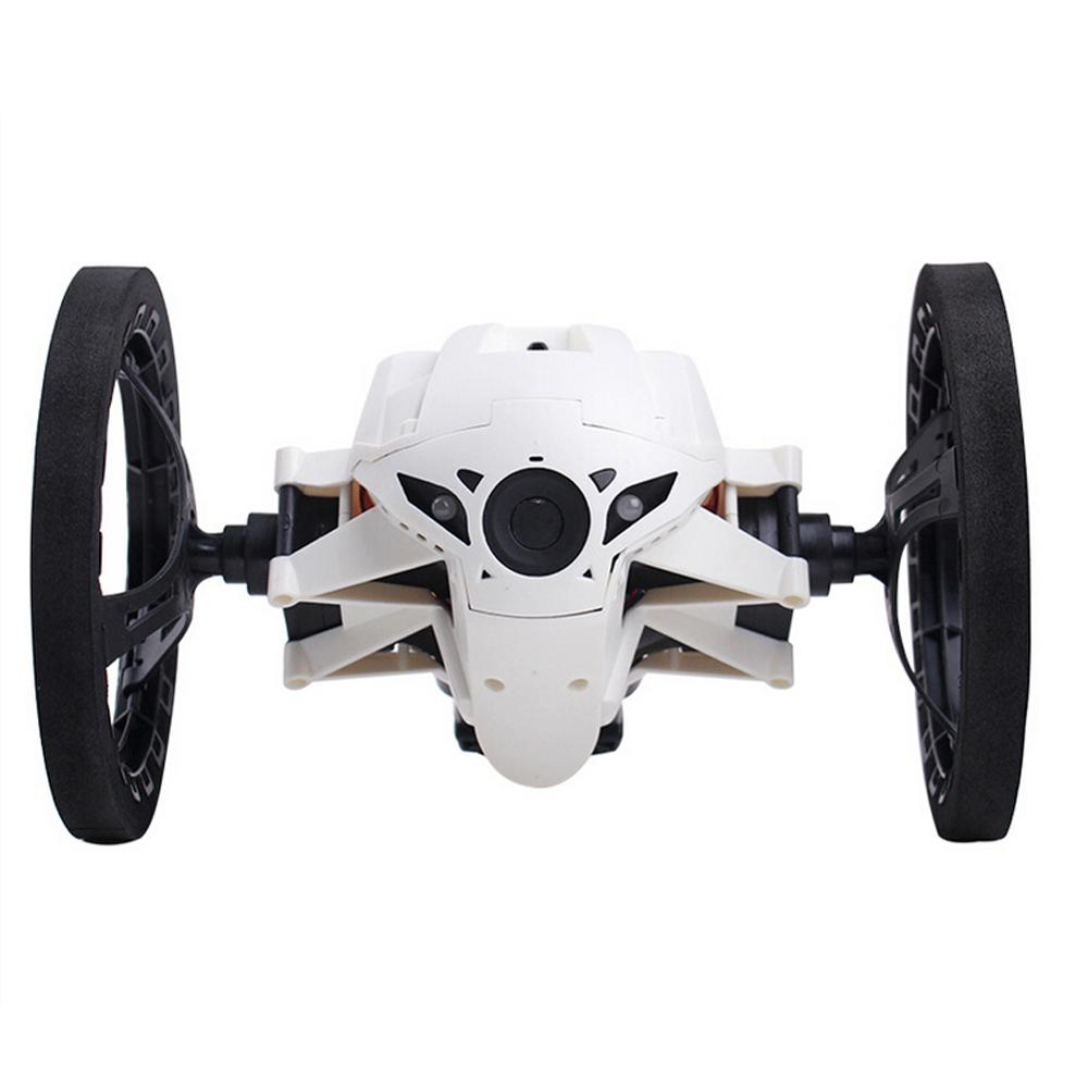 Rc jumping bounce car 4ch 2 4ghz with flexible wheels robot car musical flashing remote car toys best children gift