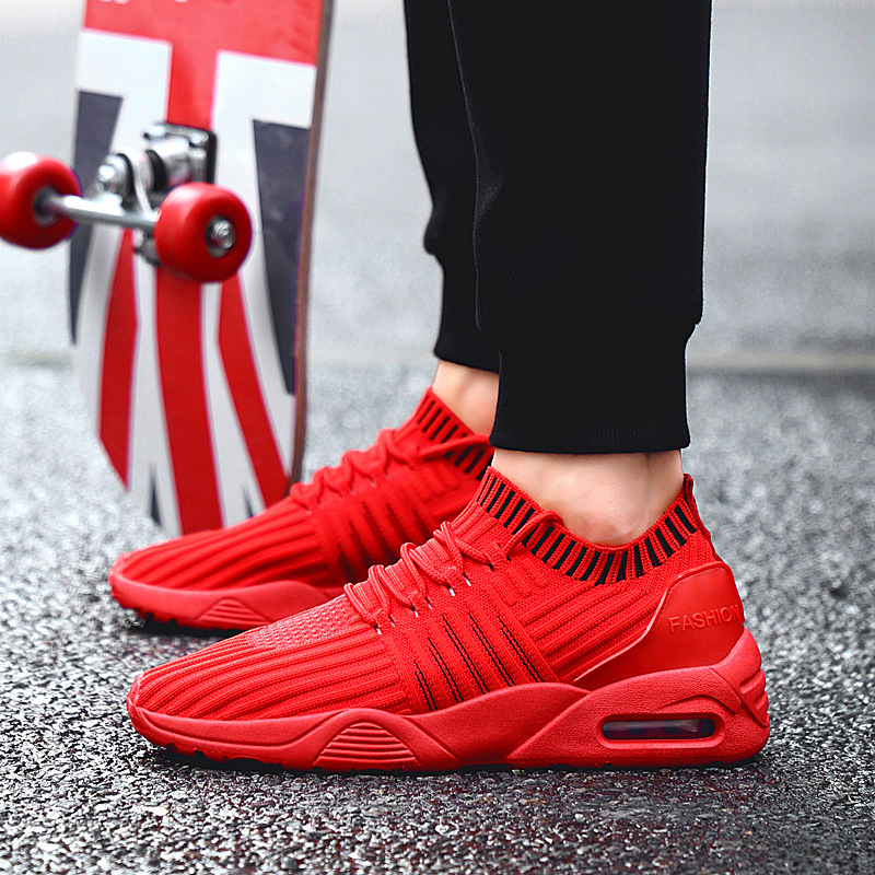 Free shipping hot sale 2018 new sports shoes wild students flying creative male air cushion running shoes zapatillas hombre