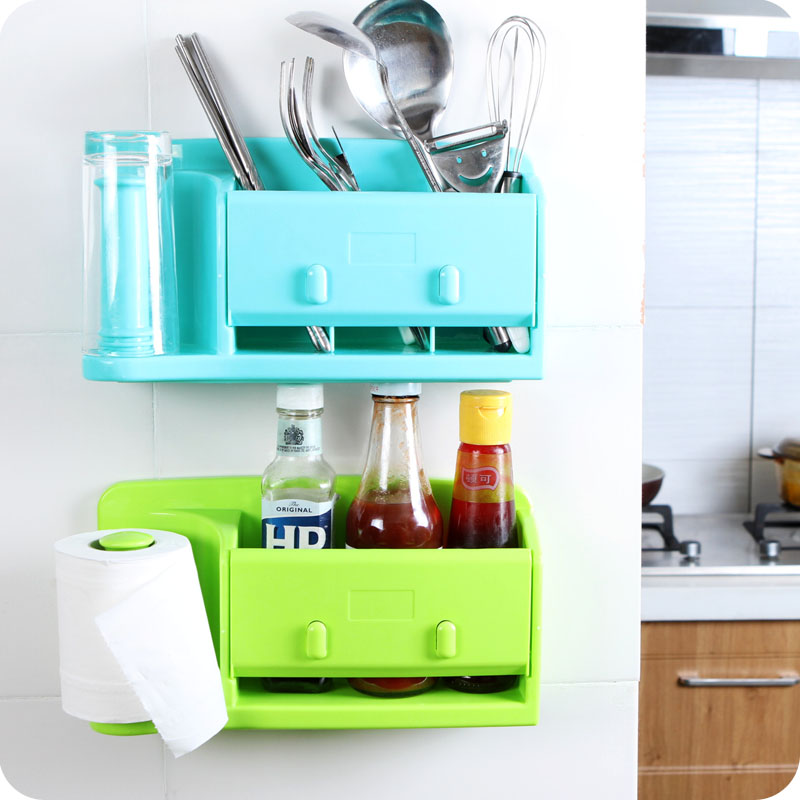High quality kitchen storage box organizer plastic bag holder ...