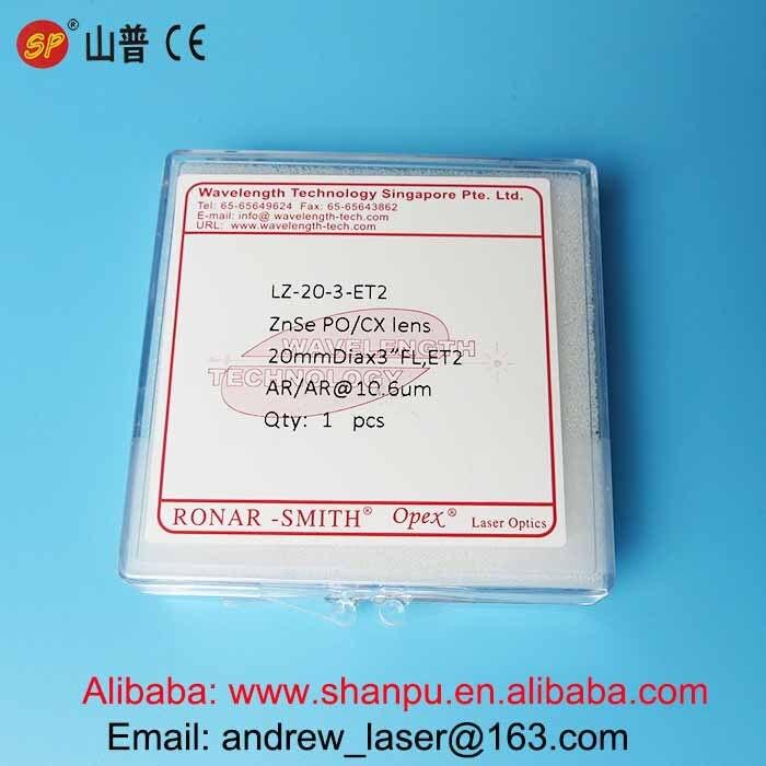 TOP USA Co2 Laser Focus Lens Diameter 20mm Focal Length 76.2mm best quality Co2 laser optics laser focusing lens in China