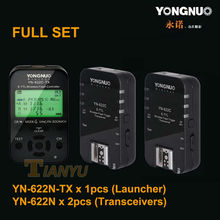 Yongnuo 622N set 1 x YN-622N-TX + 2 x RX i-TTL LCD Wireless Flash Trigger Set for Nikon D800 D800E D800S D600 D610 D7200 D7100