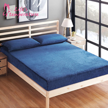 Flannel Bed Sheet Cover Soft Smooth Bedspread 1.5m/1.8m Solid Antiskid Mattress Universal Adults Caroset Twill Fitted Sheet 1