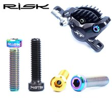 RISK Titanium M6*23.5 mm Bike Disc Brake Caliper Bolts For SHIMANO DEORE XT and SRAM GUIDE Bicycle 2 Piece