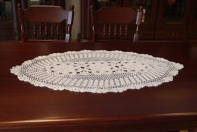 Gehaakte Ovale Ronde Tafelkleedhandgemaakte Haak Bloemen Katoen