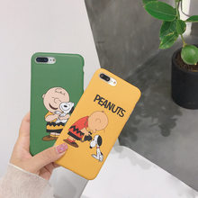 Cute Cartoon Boy And Dog Picture Case For iphone X For iphone 6 6s 7 8 plus Phone Cases Fashion Lovely Animal Soft Back Cover(China)