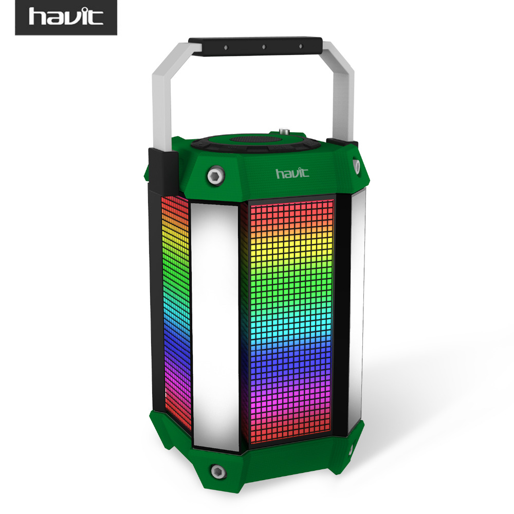 HAVIT LED Lights Portable Bluetooth Speaker Wired / Wireless Subwoofer Power Bank Function And Support FM/TF Card HV-SK159BT
