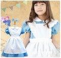 Niños de Halloween Girls Deluxe Alice en de las maravillas azul / vestido de partido rosado Alice sueño Kids Lolita Cosplay Costume