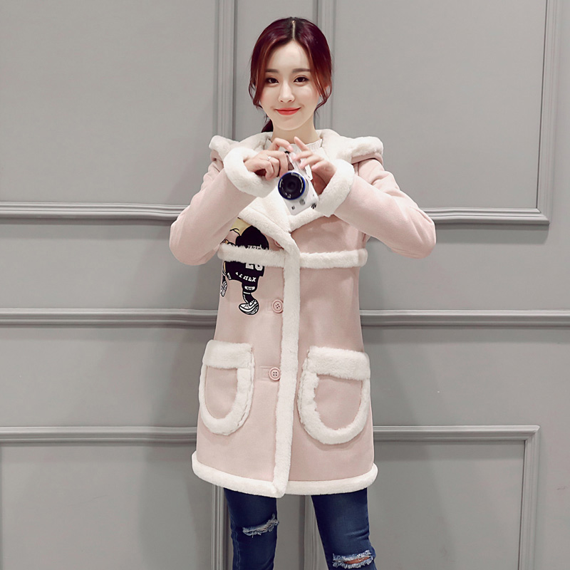 South Korea's 2017 Korean Female Students In Autumn And Winter Long Sleeved Thick Lamb Plush Suede Jacket Women Winter Coats patience kyei food law and hygiene awareness among butchers in jaman south district