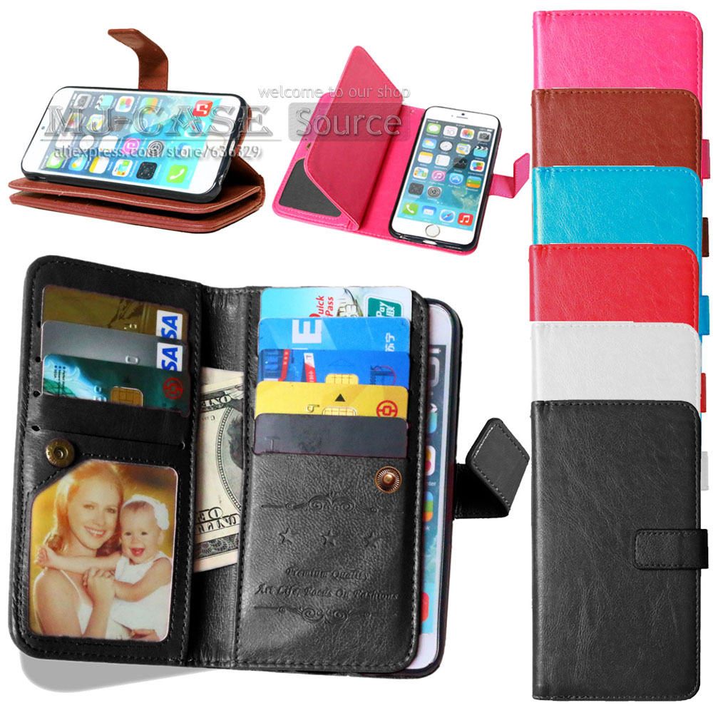 M4 Aqua Luxury PU Leather Phone Case For Sony Xperia M4 Aqua E2303 E2333 E2353 Wallet Stand Card Holder Sleeve Flip Cover