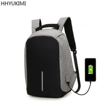 Brand Cool Urban Backpack Unisex Light Slim Minimalist Fashion Backpack Women USB External Charge Laptop