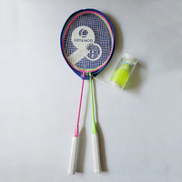 free shipping badminton rackets adults 66 cm with 2 badminton balls