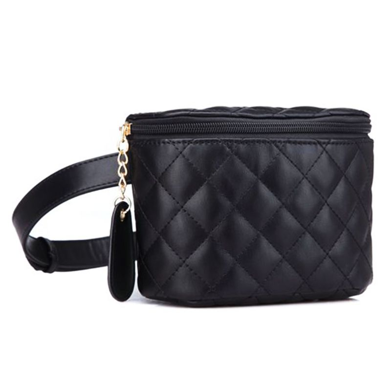 Quilted Waist Bags Luxury Leather Waist Pack Women Star Style Small Leather Bag Women Bag
