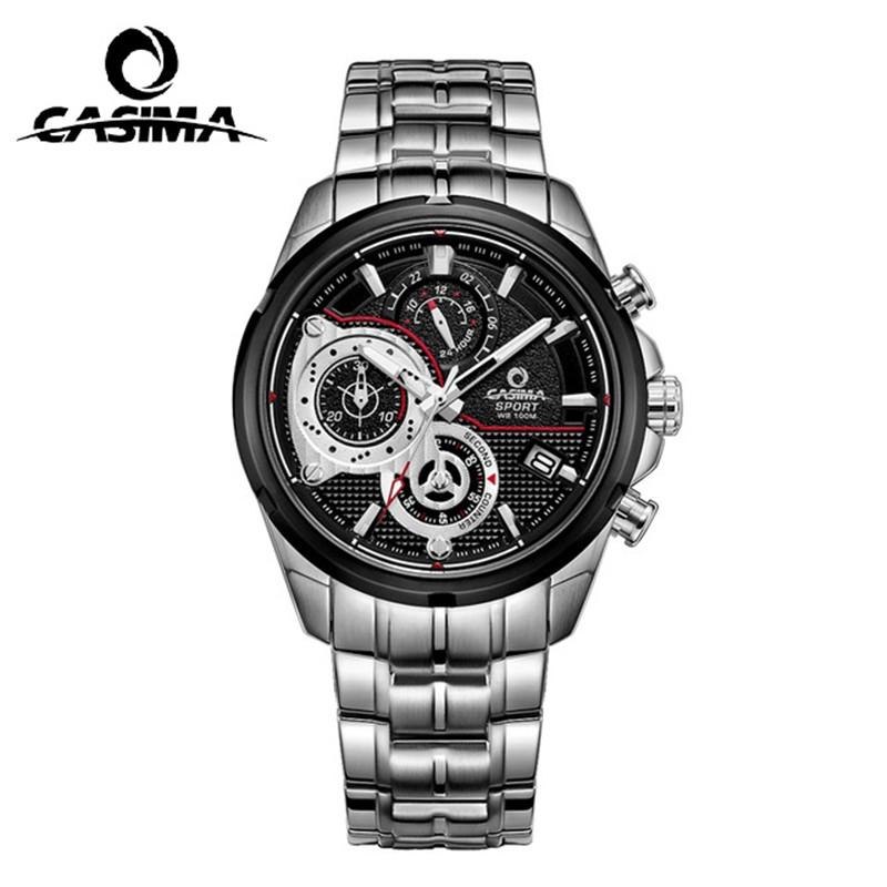 Luxury brand CASIMA men's watch men's casual quartz watch waterproof 100 meters outdoor sports fashion military watch