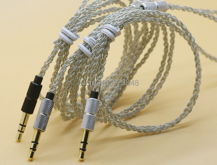 diy earphone wire Single crystal copper UE Silver plated wire 1.25m