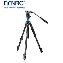 Benro a1573fs2 video trípodes de cámara trípode de aluminio profesional con s2 cabezales de vídeo placa qr4 pan handle bar bs03 bolsa de transporte