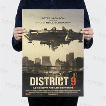 District 9 /classic Science fiction film /kraft paper/Cafe/bar poster/Retro Poster/decorative painting 51×35.5cm Free shipping