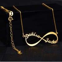Nom infini colliers femmes personnalisé Namenecklace pendentifs et colliers en acier inoxydable collier personnalisé bijoux amant cadeau livraison directe