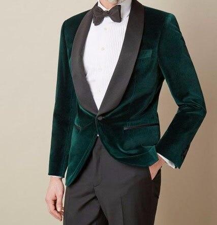 Pantalones Trajes Color Terciopelo Picture Traje chaqueta Medida Unidades  Un Oscuro As Collar Hombres Terno 2018 Delgado Moda Esmoquin 2 ... 17b762ab9c4