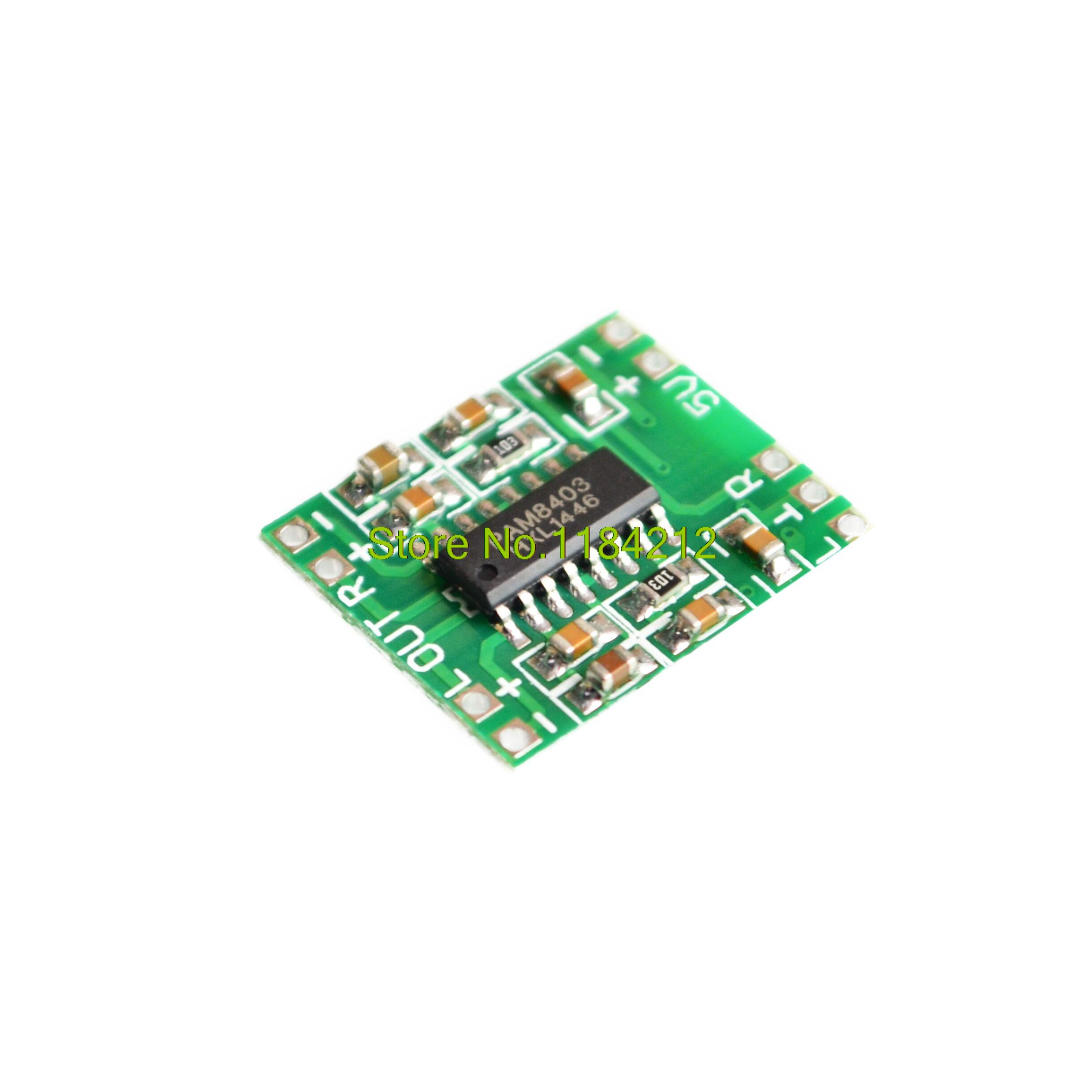 NEW 2 Channels 3W Digital Power PAM8403 Class D Audio Module Amplifier Board USB DC 5V Mini Class-D Digital Amplifier Board LCD
