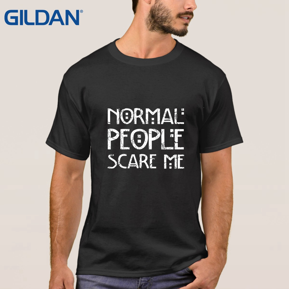 Black t shirt bulk - Crazy Black Men S Ali T Shirts In Bulk Normal People Scare Me Autism Awareness Size Tee